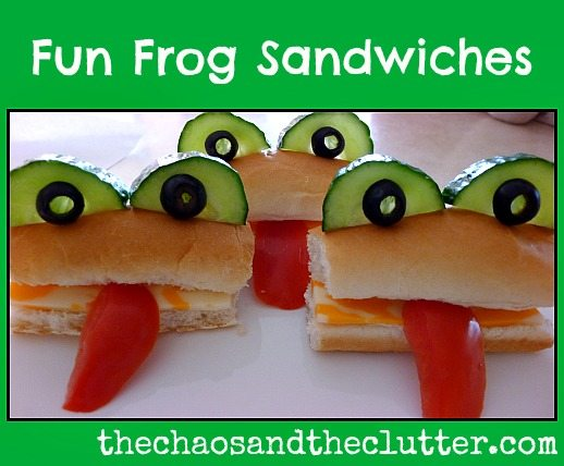Fun Frog Sandwiches - so easy to make and the kids will love them!