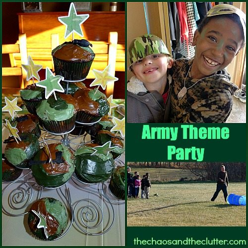Army theme birthday party for Army party decoration
