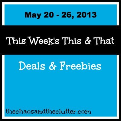 May 20 - 26 Deals & Freebies