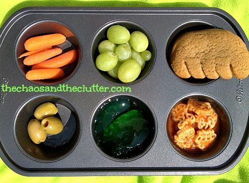 Monster Muffin Tin Lunch