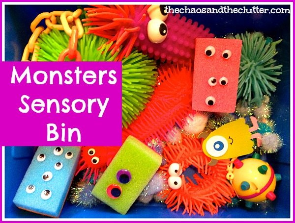 Monsters Sensory Bin