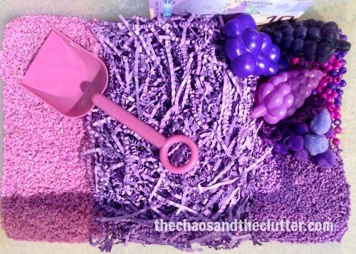 Purple Sensory Bin