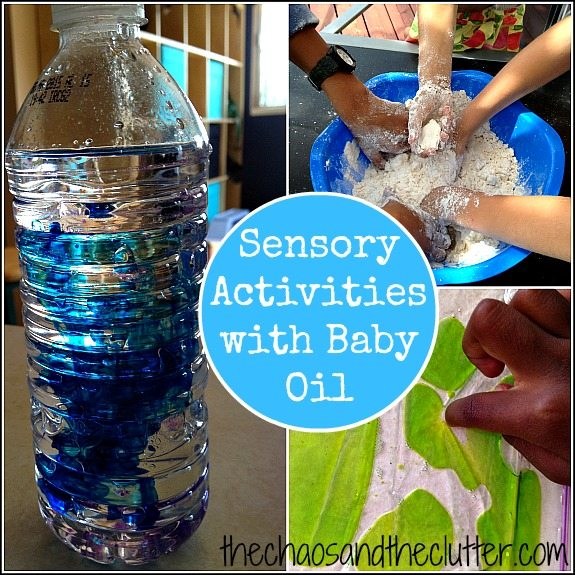 Sensory Activities with Baby Oil