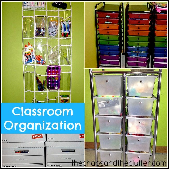 Classroom Organization Ideas ~ Our homeschool classroom