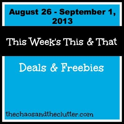 free printables, deals, giveaways and more for the week of August 26-September 1, 2013