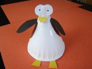 3D Penguin Paper Plate