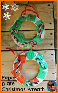 paper plate Christmas wreath