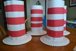 paper plate Dr. Seuss hats