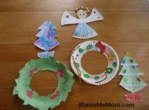 paper plate christmas