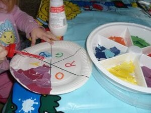 paper plate colour wheel