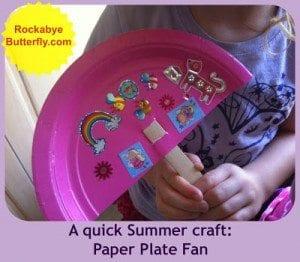 paper plate fan
