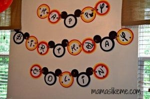 paper plate party banner