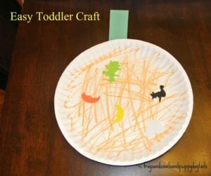paper plate pumpkin for small children