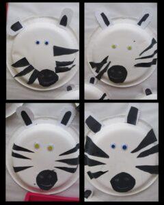 paper plate zebras