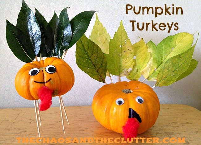 pumpkin turkeys