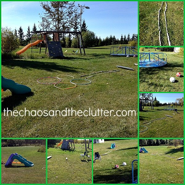 Outdoor Fall Obstacle Course