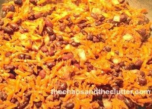 sweet potato and black bean mixture