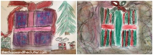 Christmas gifts in Chalk Pastels