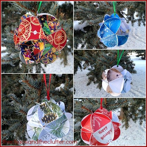 circle Christmas card ornaments at The Chaos and The Clutter