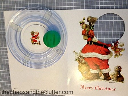 cutting circles for holiday ornaments