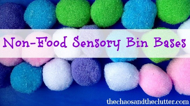 Non-Food Sensory Bin Bases