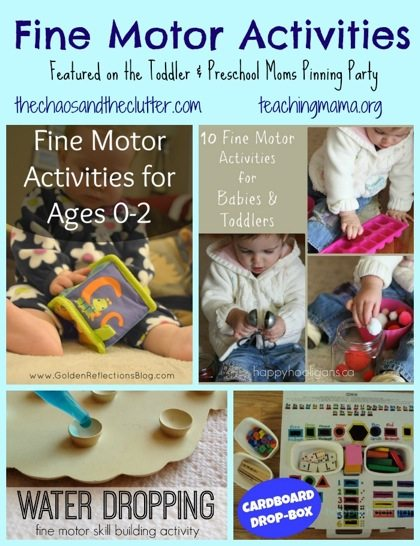 Fine Motor Activities-- Featured on the Toddler and Preschool Moms Pinning Party