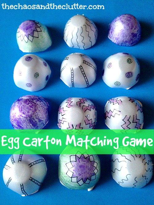 Egg Carton Matching Game