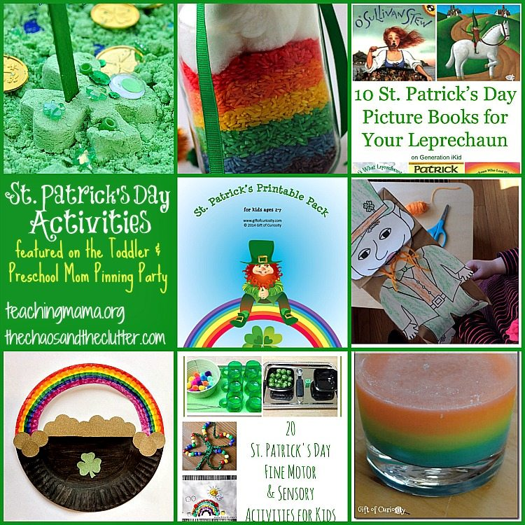 St. Patrick's Day Activities as featured on the Toddler & Preschool Moms Pinning Party