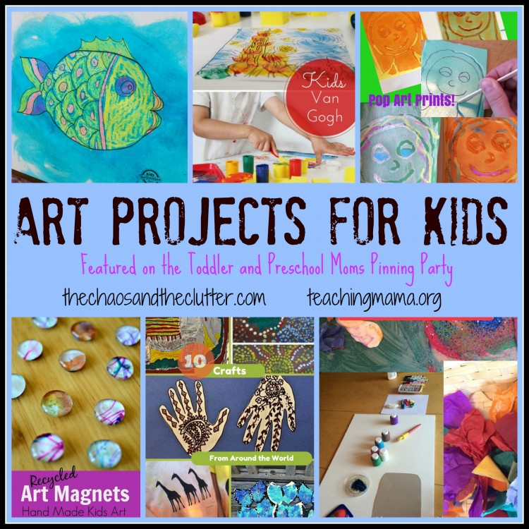 Art Projects for Kids - Featured on the Toddler and Preschool Moms Pinning Party