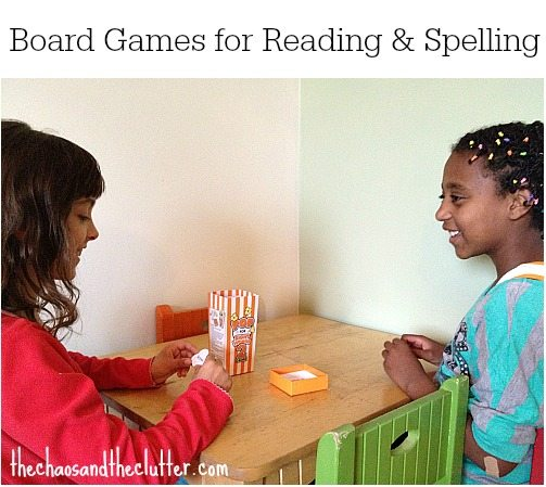 Board Games for Reading & Spelling