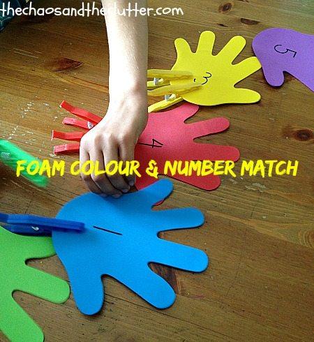Foam Colour & Number Match