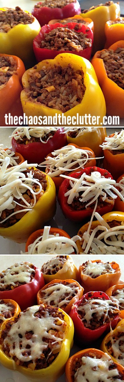 Gluten Free Stuffed Peppers (freezer meal)