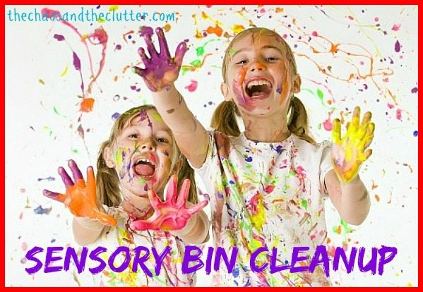 Hate the messiness of sensory play? Here are some tips.