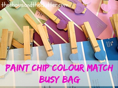 Paint Chip Colour Match Busy Bag