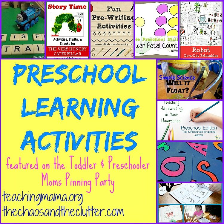 Worksheets Preschool Learning Activities preschool learning activities pinning party as featured on the toddler preschooler party
