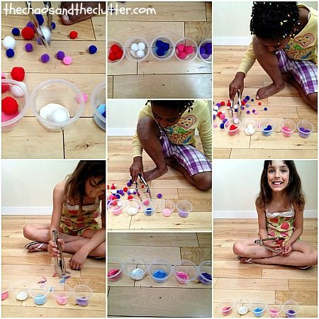 fine motor and colour practise
