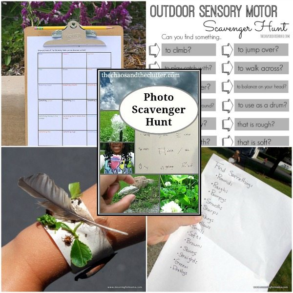 Outdoor Sensory Scavenger Hunts