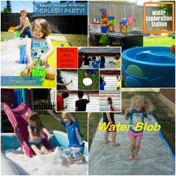 Outdoor Water Sensory Activities