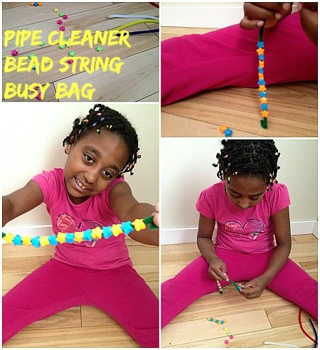 Pipe Cleaner Bead String Busy Bag