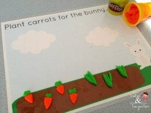 Garden Playdough Mat