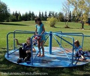 backyard merry go round