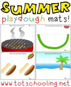 summer playdough mats printable