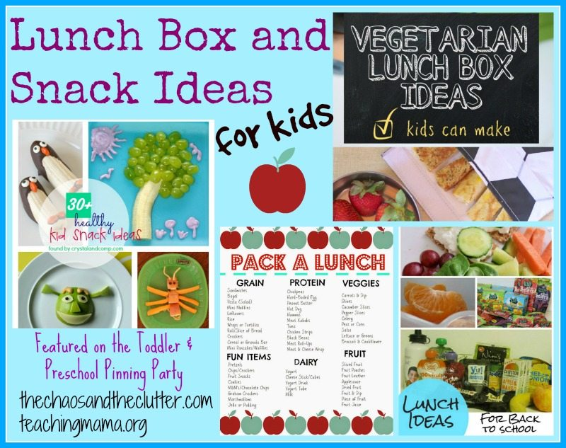 Lunch Box & Snack Ideas for Kids