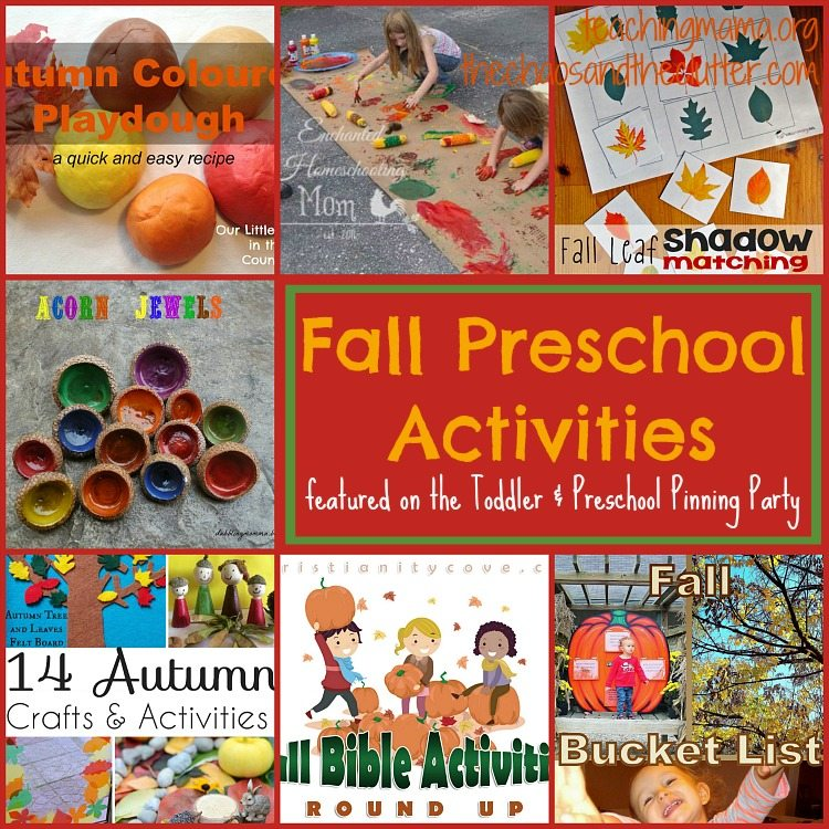 Fall Preschool Activities as featured on the Toddler & Preschooler Pinning Party