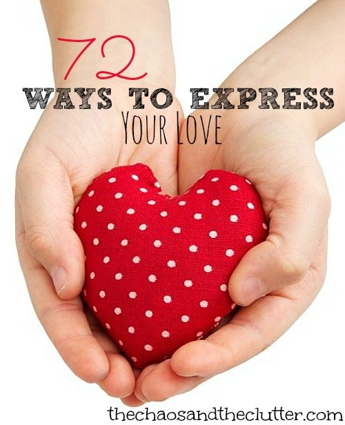 72 ways to express your love