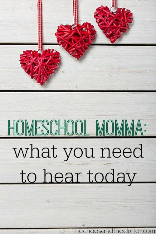 Homeschool Momma: What You Need to Hear Today