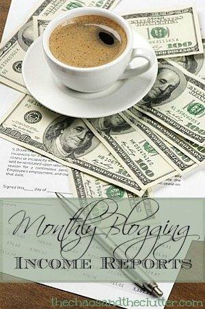 Monthly Blogging Income Reports