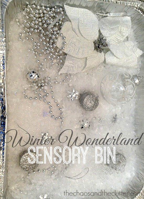 Winter Wonderland Sensory Bin