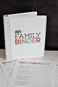 Printable Family Binder