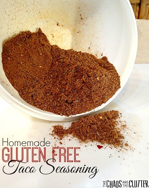 Homemade Gluten Free Taco Seasoning